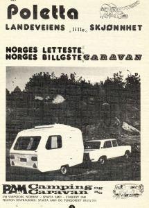 Poletta annonse fra 1975. BL