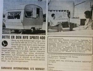 Sprite 400 annonse fra 1966