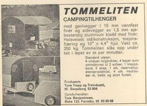 Tommeliten annonse fra 1967. BL