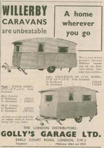 Willerby annonse fra 1951. BL