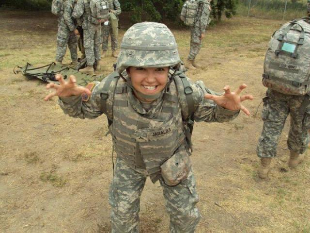 Member Stories  Lexy April Jaralba  United States Army Veteran     Lexy April Jaralba during her time as an Army Medic