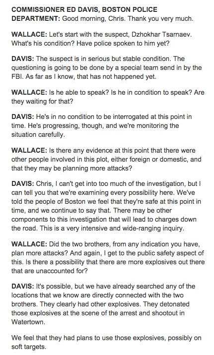 Police Commissioner w Chris Wallace