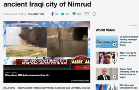 ISIS destroying ancient city of Nimrud