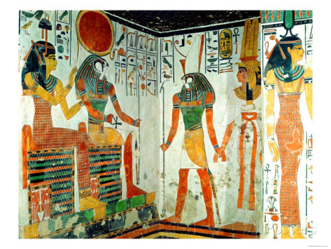 Nnefertari-is-brought-before-the-god-re-horakhty-by-horus-from-the-tomb-of-nefertari-new-kingdom