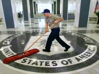 A lot gets swept out of sight at the CIA