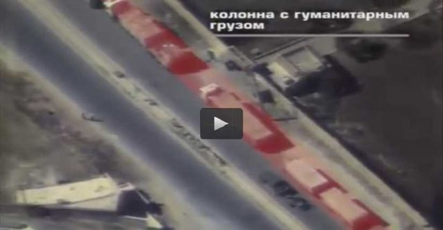 Rebels using aid convoy as a defensive shield to move weapons