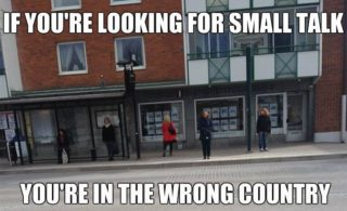 Escandinavos en general puede valiente duros inviernos, y esto no está exento de efectos culturales