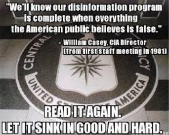 Quote from Bill Casey, former Director, CIA