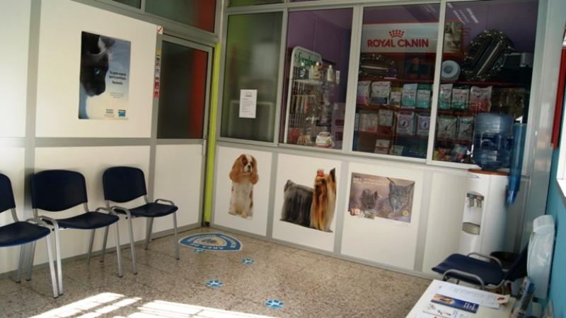 Sala de espera y tienda