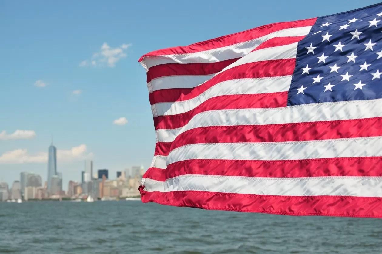Vlag USA eerste keer naar New York