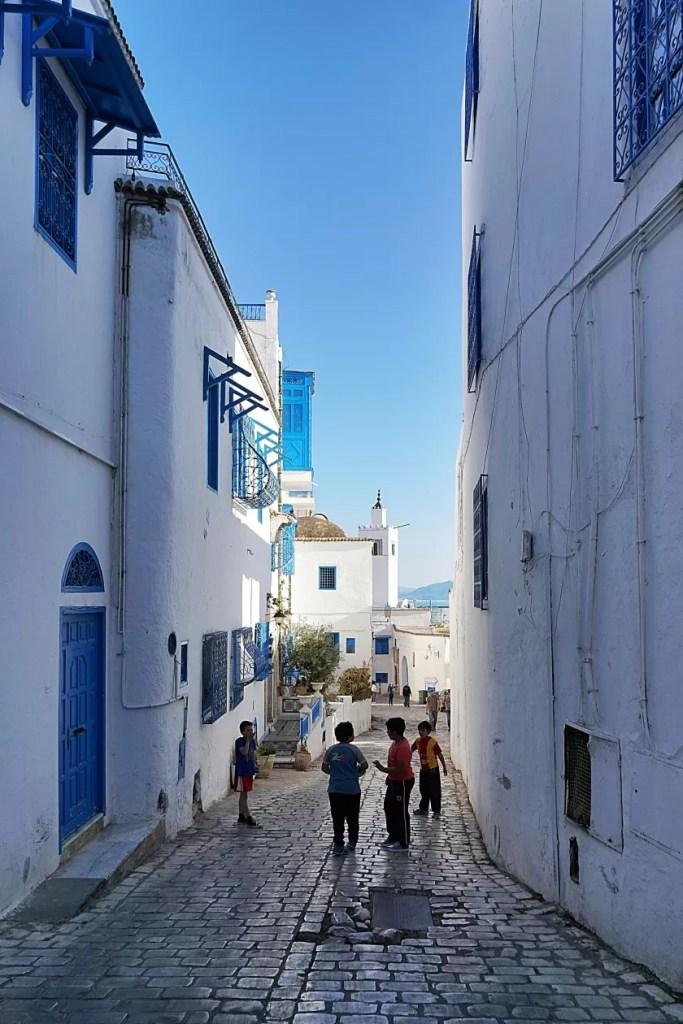 Tunesië Sidi Bou Said straat