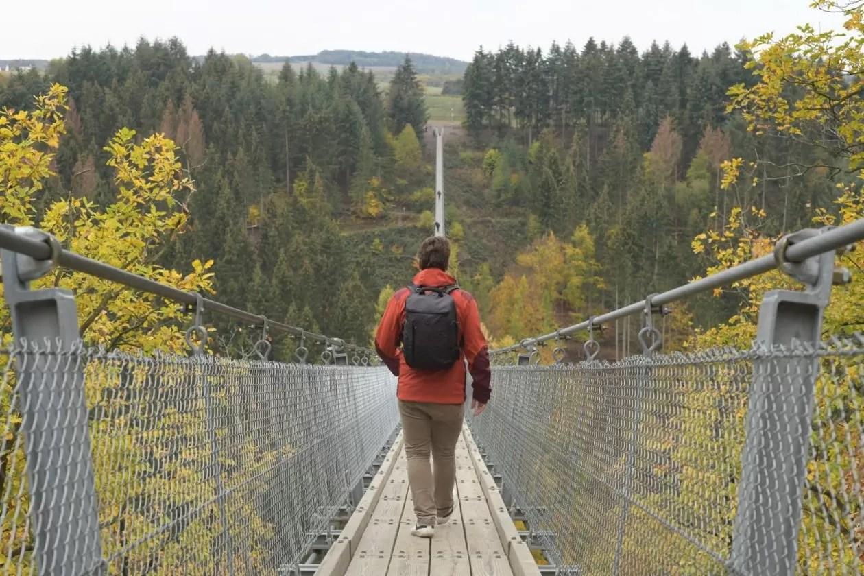 De (bijna) langste hangbrug van Duitsland: niet voor bangeriken
