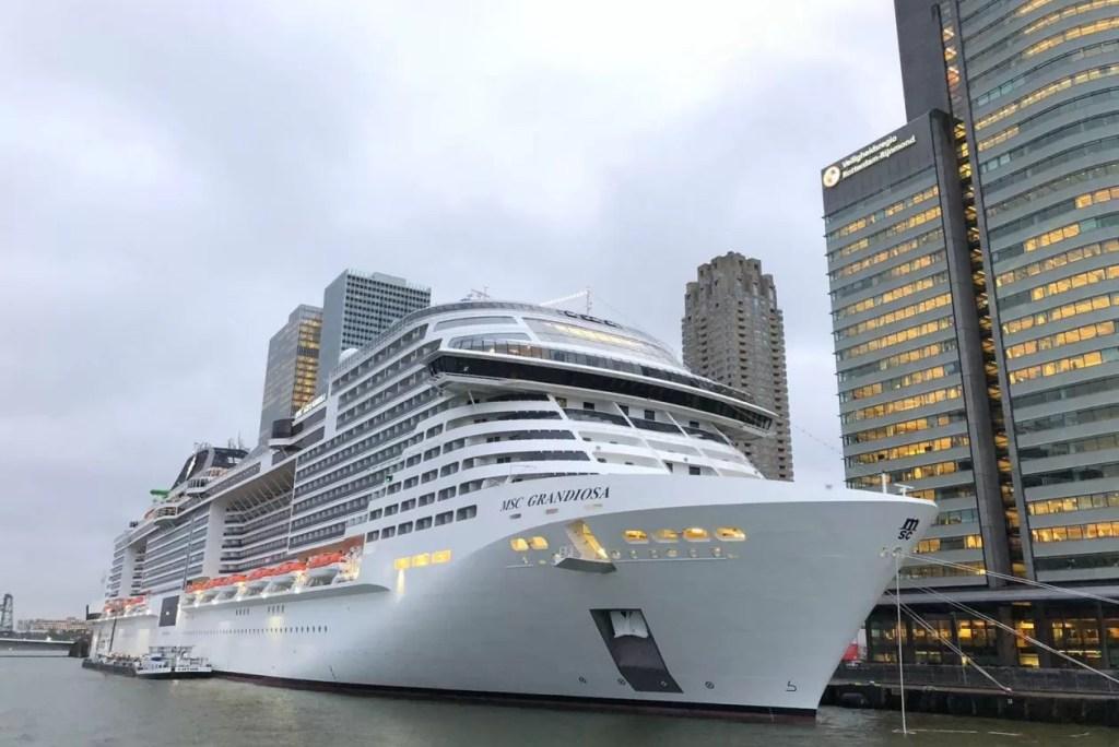 Aan boord van het grandioze MSC schip