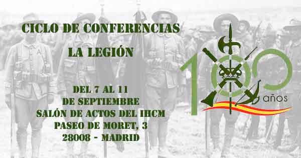 ciclo de conferencias 100 años de La Legión española
