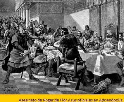 Asesinado de Roger de Flor. Almogávares