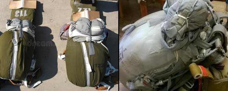 Paracaidas D6 ruso empacado
