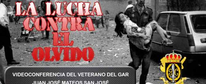 Videoconferencia Lucha del Olvido veterano GAR contra ETA