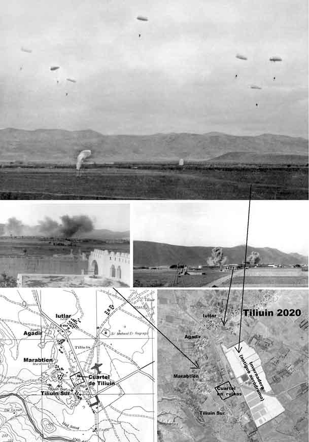 primer-salto-de-guerra 7a cia de la II Bandera de Paracaidistas en Tilinuin 1957