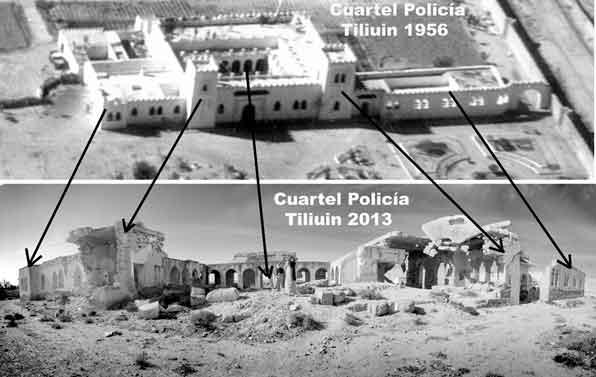 Cuartel de la Policia Tiliuin en 1956 y 2013