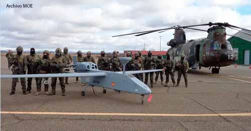 Uso de drones del MOE