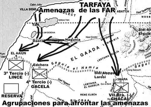 Agrupaciones Lince, Gacela y Chacal. Marcha verde