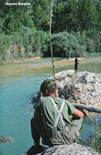 Supervivencia en la COE, pescando en el rio Segura