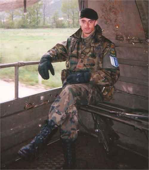 En Bosnia, como parte de la SPABRI X, 1999.