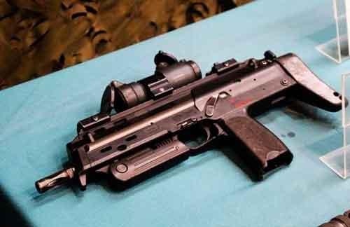 HK MP7 en primer plano