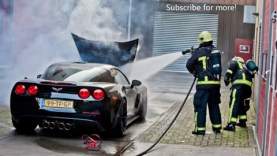 Corvette C6 Z06 Catches Fire