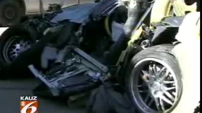 Fatal Corvette Crash on Fort Worth in Texas