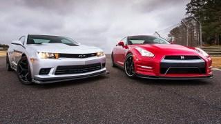 2014 Chevrolet Camaro Z/28 vs. 2014 Nissan GT-R Track Edition!