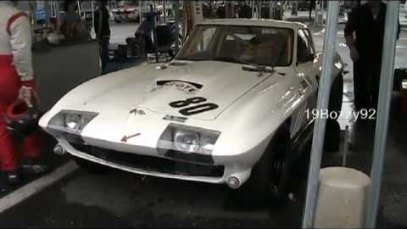 Chevrolet Corvette C2 Sting Ray with Side pipes – VERY LOUD revs and start up sound!!