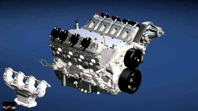 GM ZR1 Corvette V8 Engine Assembly LS9 and Car
