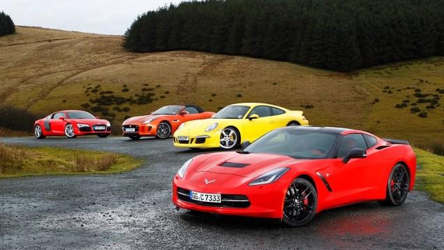 USA 1, Europe 0: Chevrolet Corvette C7 Stingray vs Porsche 911, Audi R8 and Jaguar F-type