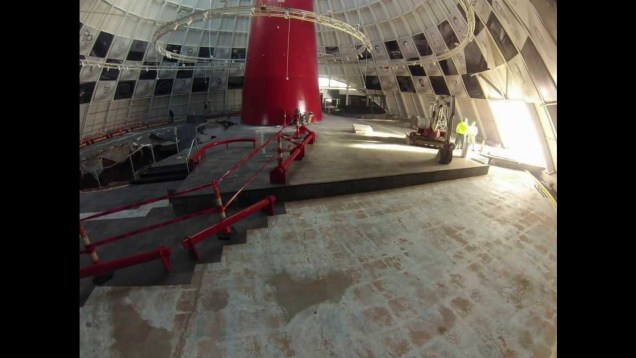 Week 1 Time Lapse Video of Corvette Museum Skydome Work