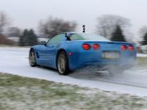 C5 Corvette on Summer Performance Tires vs Ice