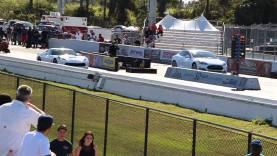 Tesla Model S P85D races C7 Corvette Stingray | 1/4 mile Drag Racing