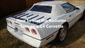 How to test the radiator fans on your C4 Corvette