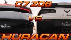 C7 Corvette Z06 takes on a Lamborghini Huracan