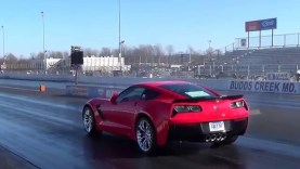 Watch a Claimed-Stock Corvette Z06 Lay Down a 10.41-Second Quarter Mile