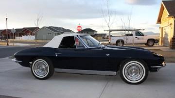 Daytona Blue 1963 Corvette Convertible Stolen in Helena, Montana