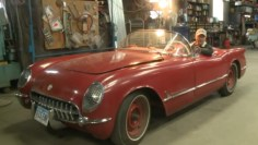 Richard Helverson and his 1954 Corvette