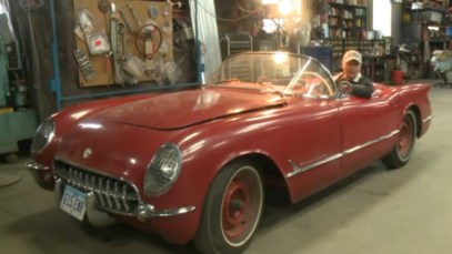 Richard Helverson and his 1954 Corvette