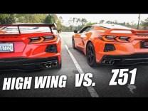 C8 2020 Corvette High Wing vs. Z51 Spoiler Comparison