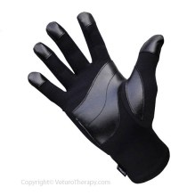 Infrared Raynaud's Gloves Leather Grip for Circulation
