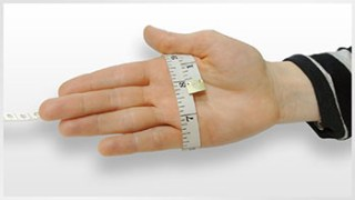 Measuring guide for veturo infrared gloves