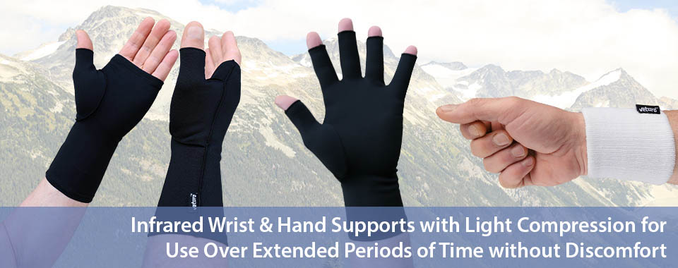 Infrared Wrist and Hand Supports Light Compression Pain Relief