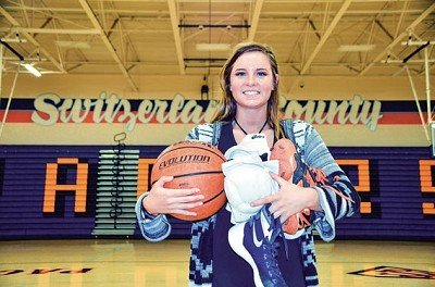 Switzerland County High School senior Mallory Phagan is seeing her athletic career come to an end
