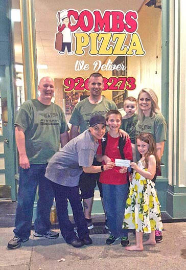 Combs Pizza donated $500 to Rowan Ziegler and the Ziegler family fundraiser for Cystic Fibrosis.