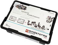 La foto mostra il pacchetto di espansione del Kit Lego Mindstorms Education EV3